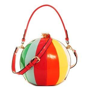 Handbags - Beach Ball Shape Rainbow 2 Satchel Cross body Bag